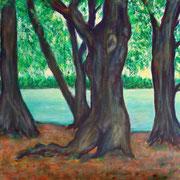 Wald am See, Acryl auf Leinwand, 80 cm x 60 cm, 2018