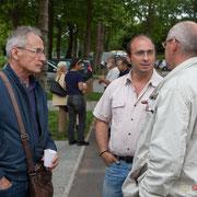 François Monnerie, Christophe Miqueu, François Papiau, Insoumis de Gironde. Ecluse de Castets-en-Dorthe. 4 juin 2017