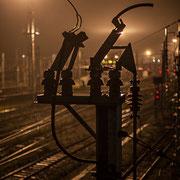 Extérieur nuit, électrification, Gare Saint-Jean, Bordeaux