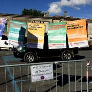 Les points clefs du programme l'Avenir en marche. Permanence mobile / Réunion de place...devant la Mairie de Créon, 5 juin 2017