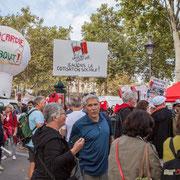 """""""Non à la faim des contrats aidés"""" """"Picardie debout"""" """"Réseau salariat Sauvons la cotisation sociale !"""" Marche contre le coup d'état social des ordonnances Macron. Esplanade du port de l'arsenal, Paris. 23/09/2017 #jaibastille"""