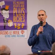 1/4 Loïc Prud'homme, Député de la Gironde la France insoumise. Comité d'appui la France insoumise aux élections européennes, Bordeaux. 22/11/2018