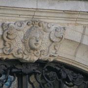 Mascaron de Bordeaux, à visage de jeune femme. Reproduction interdite - Tous droits réservés © Christian Coulais