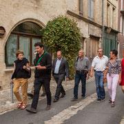 Les Insoumis de la 12ème circonscription de la Gironde ont rendez-vous avec les journalistes à Saint-Macaire. Campagne de Christophe Miqueu aux élections législatives. 17 mai 2017