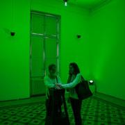 5 Lights contacts. Scenocosme : Grégory Lasserre & Anaïs met den Ancxt. Octobre numérique, Palais de l'Archevêché, Arles