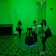 4 Lights contacts. Scenocosme : Grégory Lasserre & Anaïs met den Ancxt. Octobre numérique, Palais de l'Archevêché, Arles