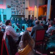 Les Insoumis de la 12ème circonscription de la Gironde préparent la prochaine campagne des législatives. France Insoumise, Langoiran, 4 mai 2017