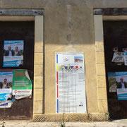 L'équipe de collage des Insoumis de la 12ème circonscription de la Gironde a bien travaillé sur le territoire de la Réole. 8 juin 2017