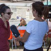 Interview France 3 Aquitaine d'Anne Paceo; reportage de Marie Neuville, journaliste; Marc Lasbarrès, cadreur; Corine Berge, monteuse. Festival JAZZ360, Camblanes-et-Meynac, 10 juin 2017