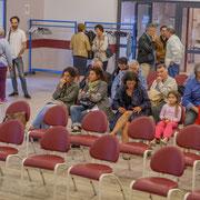 Arrivée du public. Lancement de campagne d'Anne-Laure Fabre-Nadler, dans la 12ème circonscription de la Gironde pour un futur désirable