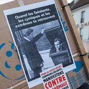 """""""Quant les fainéants, les cyniques et les extrêmes te retrouvent"""" Marche contre le coup d'état social des ordonnances Macron. Place de la Bastille, Paris. 23/09/2017 #jaibastille"""