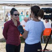 Interview France 3 Aquitaine d'Anne Paceo, tout sourie; reportage de Marie Neuville, journaliste; Marc Lasbarrès, cadreur; Corine Berge, monteuse. Festival JAZZ360, Camblanes-et-Meynac, 10 juin 2017