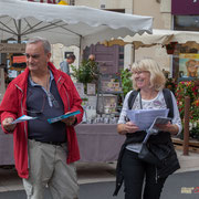 Tractage militant des Insoumis de la 12ème circonscription, 7 juin 2017, marché de Créon