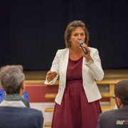 Anne-Laure Fabre-Nadler, Noël Mamère. Lancement de campagne, 12ème circonscription de la Gironde, 17 mai 2017, Sadirac