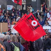 POI Parti Ouvrier Indépendant Marche contre le coup d'état social des ordonnances Macron. Place de la Bastille, Paris. 23/09/2017 #jaibastille