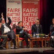 4 Les interventions sont entrecoupées d'infographies réalisées par les Jeunes Socialistes de Benoît Hamon.