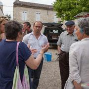 Réunion de place des Insoumis de la 12ème circonscription de la Gironde. Gironde-sur-Dropt, 27 mai 2017