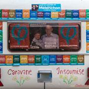 La VRAIE caravane des Insoumis de la 9ème circonscription de la Gironde. Ecluse de Castets-en-Dorthe. 4 juin 2017