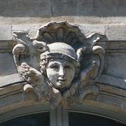 Mascaron de Bordeaux, à visage de Mercure. Reproduction interdite - Tous droits réservés © Christian Coulais
