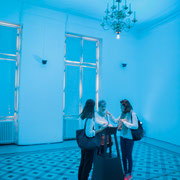 1 Lights contacts. Scenocosme : Grégory Lasserre & Anaïs met den Ancxt. Octobre numérique, Palais de l'Archevêché, Arles