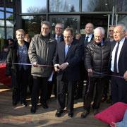 De gauche à droite : Jean-Jacques Ronzié, Président du Conseil d'Administration de la Caisse d'Allocations Familiales...
