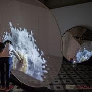 8 Métamorphy. Scenocosme : Grégory Lasserre & Anaïs met den Ancxt. Octobre numérique, Palais de l'Archevêché, Arles