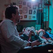 Vincent Feld, directeur de campagne de Christophe Miqueu, candidat sur la 12ème circonscription de la Gironde pour la France Insoumise, Langoiran, 4 mai 2017