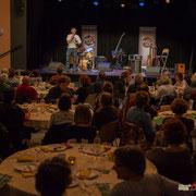 Richard Raducanu, Président de l'Association JAZZ360 présente la Soirée Cabaret à la centaine de présent-es