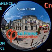 Invitation sur Facebook à venir à la Permanence mobile / Réunion de place...devant la Mairie de Créon, 5 juin 2017