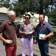 Tractage lors du changement d'équipe au Centre hospitalier Sud Gironde, à la Réole, 8 juin 2017