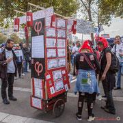 """""""La cariolette insoumise"""" Marche contre le coup d'état social des ordonnances Macron. Esplanade du port de l'arsenal, Paris. 23/09/2017 #jaibastille"""