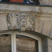 Mascaron de Bordeaux, à visage de vieil homme. Reproduction interdite - Tous droits réservés © Christian Coulais