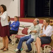 Anne-Laure Fabre-Nadler, Isabelle Guinaudeau, Noël Mamère. Lancement de campagne, 12ème circonscription de la Gironde, 17 mai 2017, Sadirac
