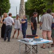 Permanence mobile / Réunion de place des Insoumis de la 12ème circonscription de la Gironde. Gironde-sur-Dropt, 27 mai 2017