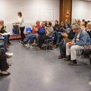 Fin des interventions, place aux questions du public. Comité d'appui la France insoumise aux élections européennes, Bordeaux. 22/11/2018
