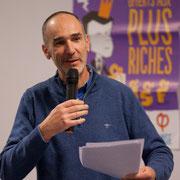 3/4 Loïc Prud'homme, Député de la Gironde la France insoumise. Comité d'appui la France insoumise aux élections européennes, Bordeaux. 22/11/2018