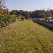 Accès aux anciennes terres agricole de Gratian. Avenue du Bois du Moulin, Cénac, Gironde. 16/10/2017