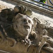 Mascaron de Bordeaux, à visage d'homme moustachu. Reproduction interdite - Tous droits réservés © Christian Coulais