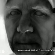 Christian Coulais, vidéo-photographe, Cénac. Autoportrait infrarouge N/B © Christian Coulais