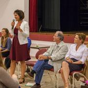 Hélène Moga, Anne-Laure Fabre-Nadler, Noël Mamère, Fabienne Hurmic. Lancement de campagne, 12ème circonscription de la Gironde, 17 mai 2017, Sadirac