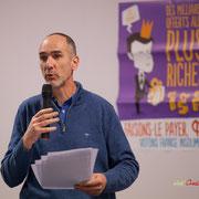 2/4 Loïc Prud'homme, Député de la Gironde la France insoumise. Comité d'appui la France insoumise aux élections européennes, Bordeaux. 22/11/2018