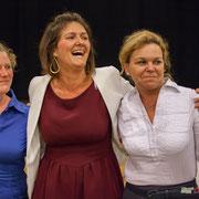 Isabelle Guinaudeau, Anne Laure Fabre-Nadler, Fabienne Hurmic. Lancement de campagne, 12ème circonscription de la Gironde, 17 mai 2017, Sadirac