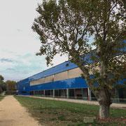 Institut de recherche de la Provence antique, Musée départemental d'Arles. H.E. Ciriani, architecte. Façade côté Rhône