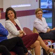 Anne-Laure Fabre-Nadler et Fabienne Hurmic, candidates sur la 12ème circonscription de la Gironde, 17 mai 2017, Sadirac