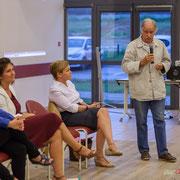 Noël Mamère, Député-Maire de Bègles soutient Anne-Laure Fabre-Nadler, candidate sur la 12ème circonscription de la Gironde. Sadirac, 17 mai 2017