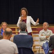 Isabelle Guinaudeau, Anne-Laure Fabre-Nadler, Noël Mamère. Lancement de campagne d'Anne-Laure Fabre-Nadler, 12ème circonscription de la Gironde, 17 mai 2017, Sadirac