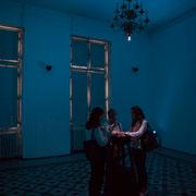 3 Lights contacts. Scenocosme : Grégory Lasserre & Anaïs met den Ancxt. Octobre numérique, Palais de l'Archevêché, Arles