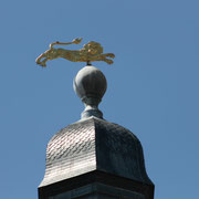 Grosse cloche, XVème siècle, Bordeaux. Représenté sur la girouette, le léopard anglais rappelle les armes de la province de la Guyenne anglaise dont Bordeaux était la capitale. Reproduction interdite - Tous droits réservés © Christian Coulais
