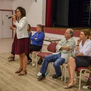 Anne-Laure Fabre-Nadler, Isabelle Guinaudeau, Noël Mamère, Fabienne Hurmic. Lancement de campagne, 12ème circonscription de la Gironde, 17 mai 2017, Sadirac