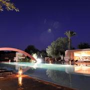 Grande piscine nuit